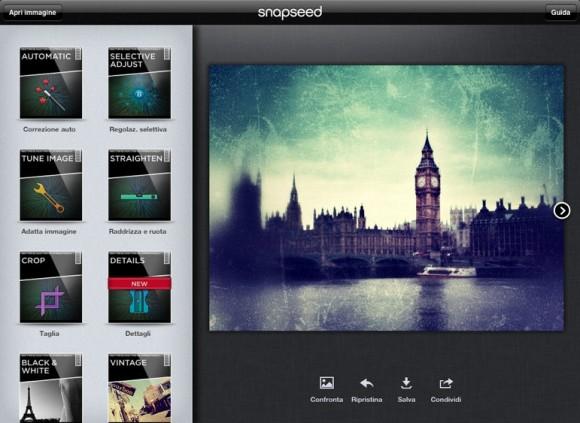 Schermata 01 2455928 alle 11.32.51 580x423 12 Giorni di Regali: il settimo regalo di Apple è lapplicazione Snapseed
