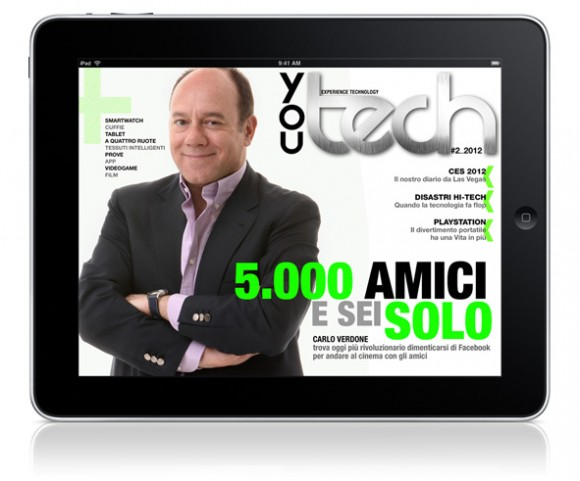 You Tech n. 2 2012 580x481 E uscito il nuovo numero di You Tech Magazine per iPad