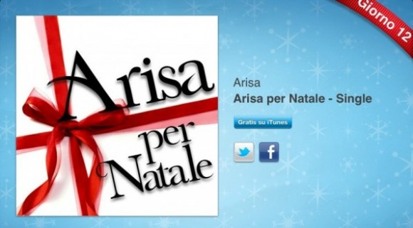 arisa 595x330 580x321 Arisa per Natale   Single è lultimo regalo legato allofferta 12 Giorni di Regali