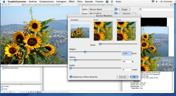 gc screen3 580x315 GraphicConverter 7.6 in italiano da Italiaware