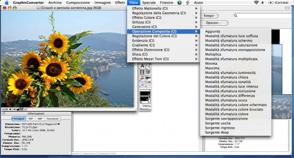 gc screen4 580x312 GraphicConverter 7.6 in italiano da Italiaware