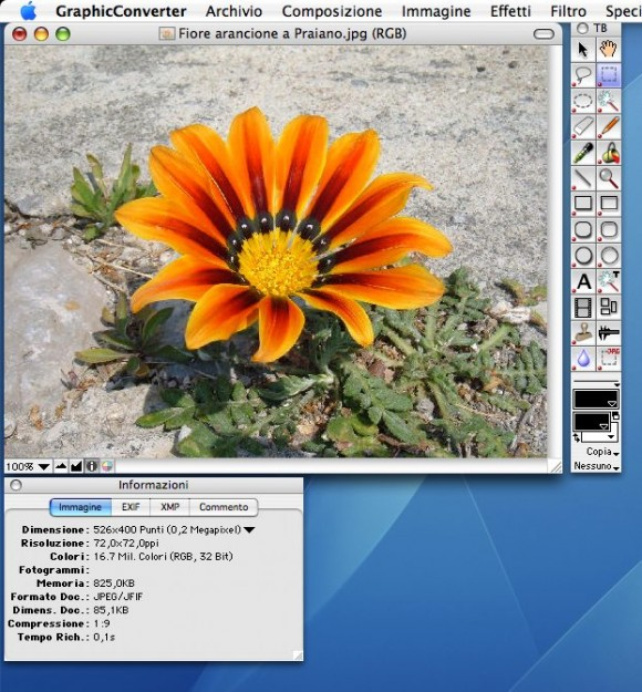 gc screen5 580x625 GraphicConverter 7.6 in italiano da Italiaware