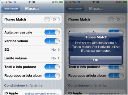iTunes Match ITA iPhone 414x309 Apple rilascia iOS 5.1 beta 3 agli sviluppatori