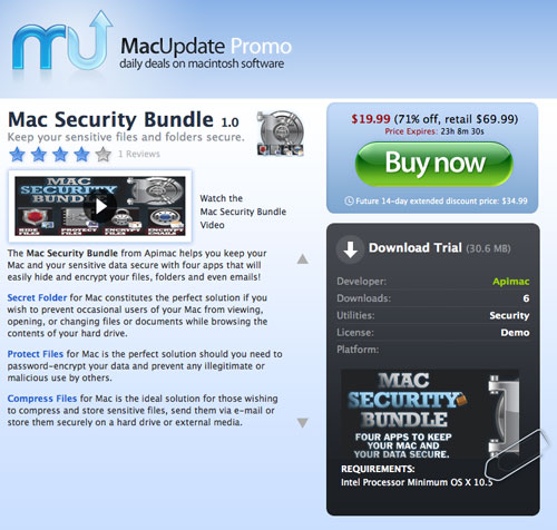musecurityscreen Mac Security Bundle, 4 app per tenere al sicuro file e cartelle, a prezzo speciale