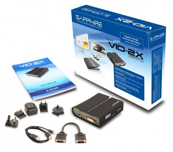 sapphirevid2x 580x507 Sapphire presenta Vid 2X per avere più spazio con il Multi Monitor senza smontare il Mac