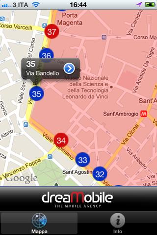 screen 1 Area C Milano, una app con i varchi milanesi