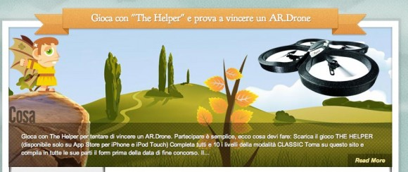 helper 580x244 Vinci un AR.Drone giocando gratuitamente con The Helper