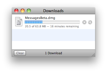 messagedownload iMessage anche su Mac OS X, ecco la Beta di Message