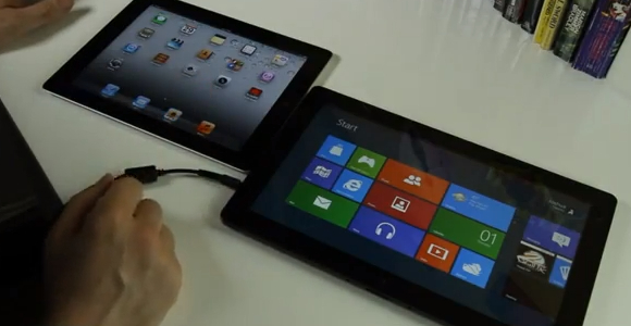 iOS vs Windows8 iOS contro Windows 8, un test video molto suggestivo.