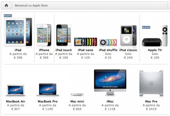 Apple store online 580x397 Negozi online: Amazon batte Apple