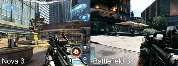 Nova 3 vs Battlefield 3 580x215 Con Nova 3 iPad diventa una console