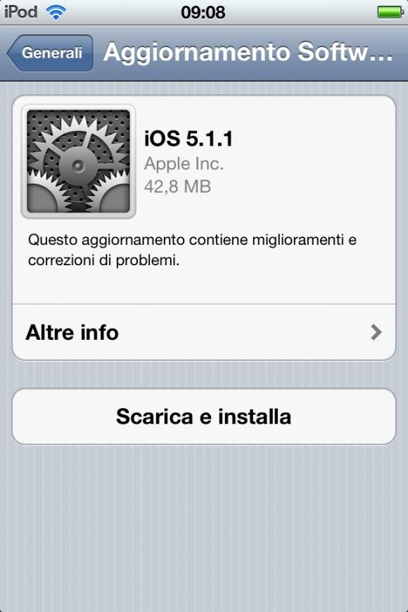 iOS5.1.1 580x870 Apple rilascia iOS 5.1.1, ecco tutti i miglioramenti