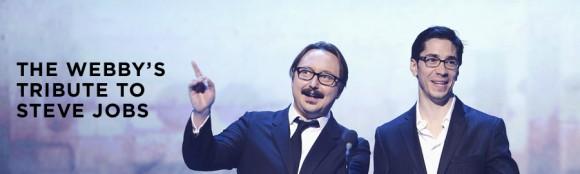 stevejobs tribute 580x174 Steve Jobs ricordato dai grandi del mondo ai Webby Awards