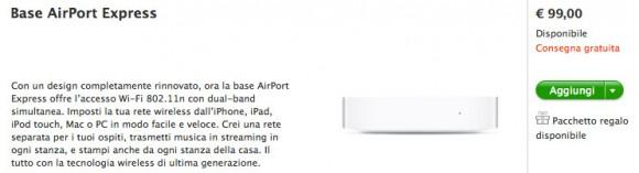 acquisto airport 580x157 Apple ha rilasciato il nuovo AirPort Express