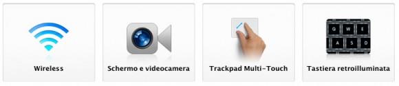 audio wifi camer tastiera 580x125 Nuovi MacBook Air: caratteristiche e prezzi