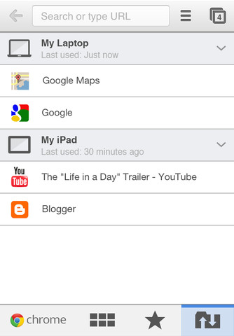 chrome ios3 Google Chrome arriva su iPad e iPhone