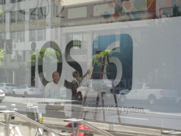 img 0201 580x434 I banner al Moscone Center: iOS 6 con un logo tutto nuovo, OS X Mountain Lion e iCloud