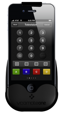 321 4 VooMoteOne TelevisionScreen Con VooMote Zapper  lApple device diventa un telecomando