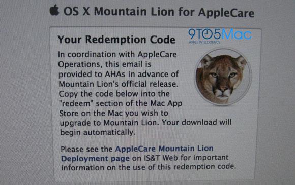 9to5applecareml Gli addetti dellAppleCare ricevono Mountain Lion, rilascio imminente?