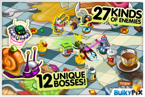 buginvasion3 580x386 Bug Invasion, tower defense game per iOS