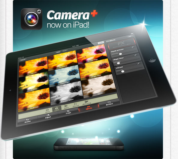 Camplus for iPad TapTapTap rilascia Camera+ per iPad