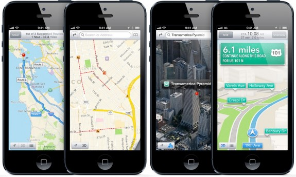apple iphone 5 ios6 map 575x345 Meno di una settimana ad iOS 6: Ecco come sarà!
