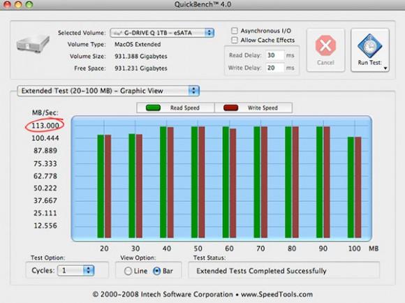 g drive quickbench esata large 580x434 G Drive, un hard disk ad alte prestazioni