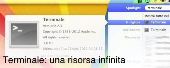 terminale home italiamac 580x232 Comandi da Terminale utili per OS X