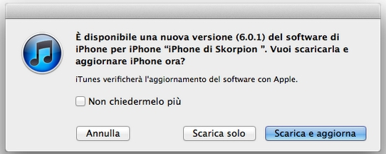 update Nuovo aggiornamento disponibile al download: iOS 6.0.1 [Link diretti]