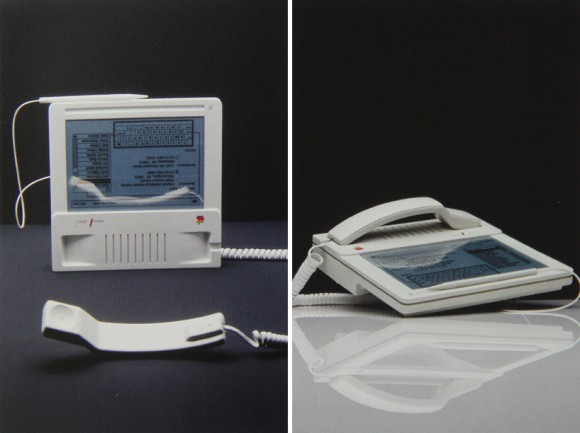 apple mac phone 2 580x433 MacPhone, il telefono, tablet e touchscreen Apple del 1985. Ma cè anche il Baby Mac, il Macintosh Studies e la  Flat Screen Workstation