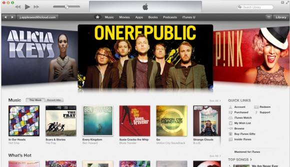 itunes11 580x335 Apple iTunes 11, promosso anche da Wired