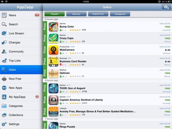 IMG 20121213 2 580x435 AppZapp, lapp per iPad e iPhone che ti segnala tutte le app scontate o adesso gratis