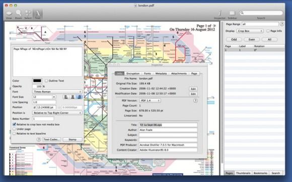 ProviewPDFEditor1 580x362 Proview PDF Editor, modificare e gestire PDF con Mac OS X