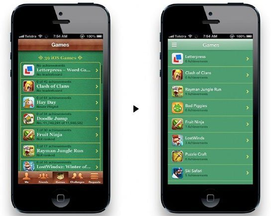 iOS7 Game Center Concept Jonathan Ive vuole un design più piatto e minimal per iOS 7