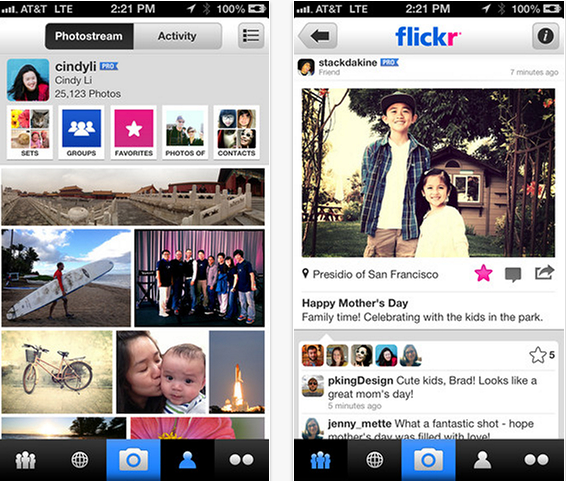 Flickr per iOS Yahoo! si svecchia: acquista Tumblr, ridisegna Flickr e approda su iOS 7