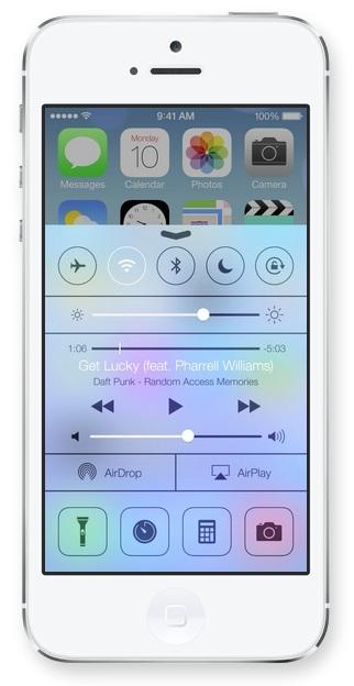 Control Center in iOS 7 Apple presenta iOS 7, una carrellata delle novità più importanti