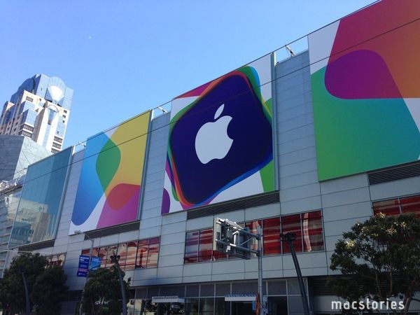 Moscone Center pronto per il WWDC 2013 - Esterno