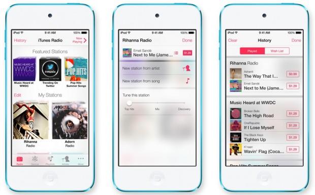 iTunes Radio Screenshot 620x384 Apple annuncia iTunes Radio, disponibile in Autunno