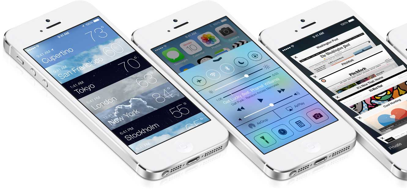 iOS 7 sull'iPhone 5