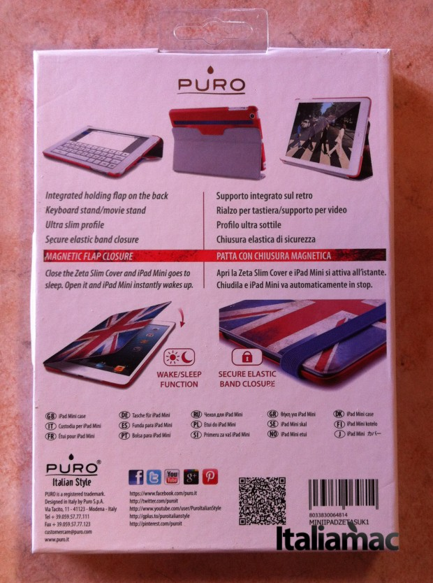 Custodia Flag Zeta Slim iPad Mini di Puro Retro confezione 620x834 Custodia Flag Zeta Slim iPad Mini di Puro
