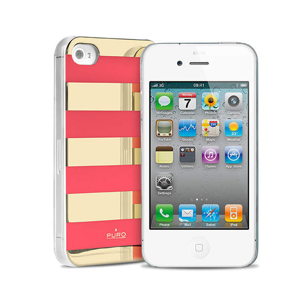 Stripe Cover Collection di Puro per iPhone 4s2 Stripe Cover Collection di Puro per iPhone 4/4s e 5