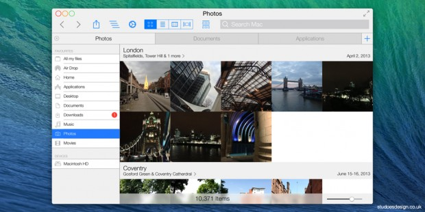 osx Ivericks 02 620x310 Come iOS 7 potrebbe ispirare il design del nuovo OS X Mavericks. Due gallerie di immagini per voi