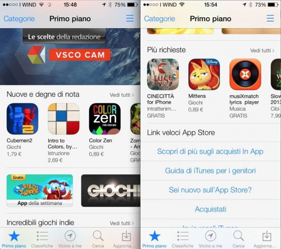 AppStore in iOS 7