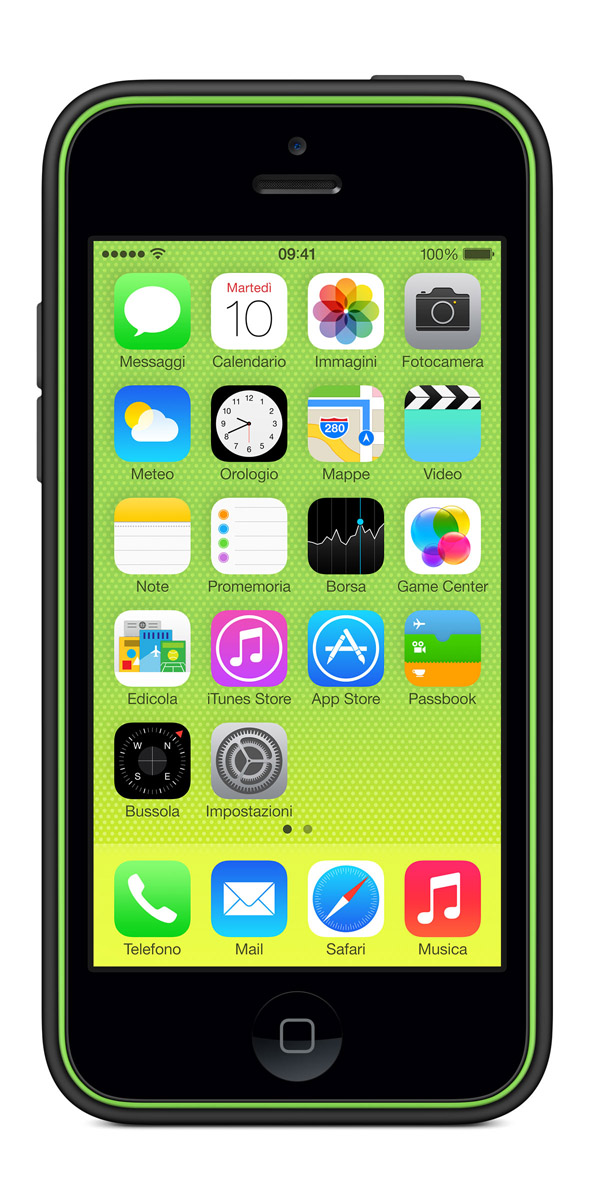 cases gallery front green black [Galleria] Apple presenta il nuovo iPhone 5c, diamo uno sguardo al nuovo stile colorato made in Cupertino
