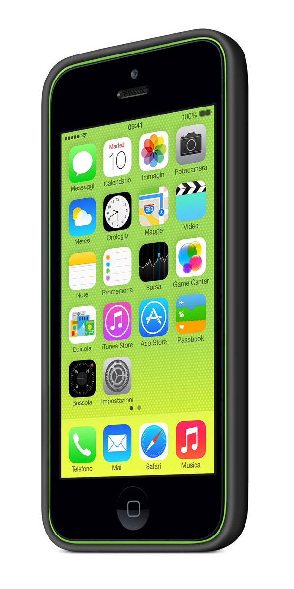 cases gallery threequarterfront green black [Galleria] Apple presenta il nuovo iPhone 5c, diamo uno sguardo al nuovo stile colorato made in Cupertino