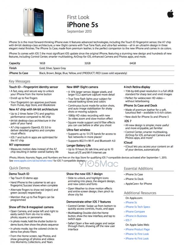 training 620x825 Un documento interno guida i dipendenti Apple sulla vendita di iPhone 5s