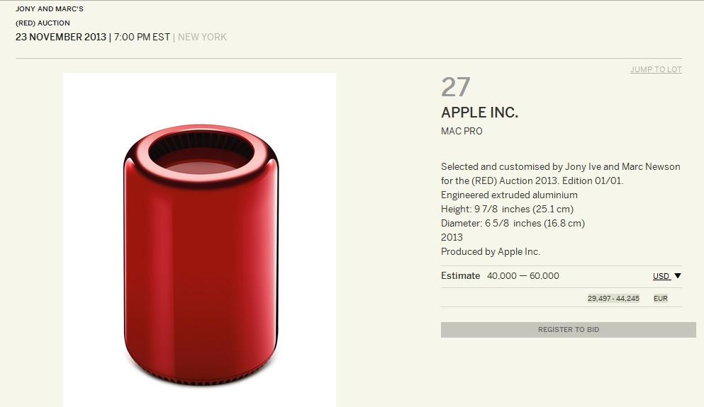 Mac Pro in edizione limitata per Product (RED)