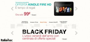 Black Friday Amazon: Kindle Fire HD a 99€ e tanto altro