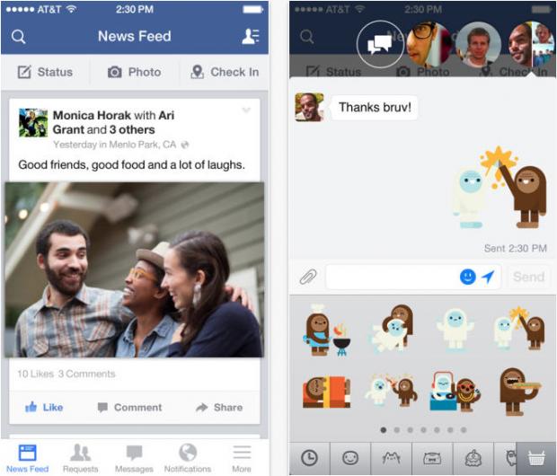 Facebook 6.7.2 620x530 Facebook 6.7.2 e Messenger 3.0 per iOS disponibili sullApp Store
