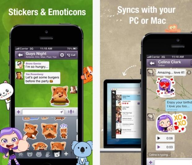 Viber 4 iOS 620x532 Viber per iOS si aggiorna ed introduce la funzione Hold and Talk